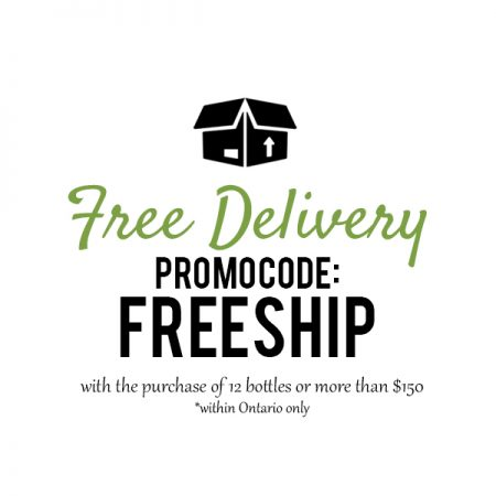 Free Shipping on 12 Bottles within Ontario