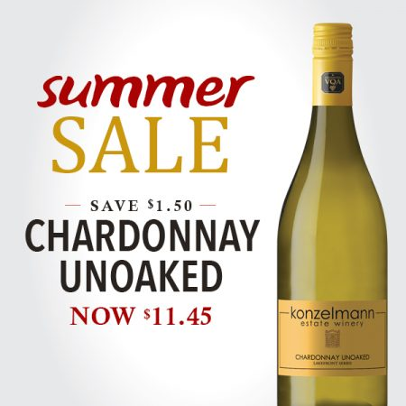 Sale Alert. Save $1.50 on our Chardonnay. Now only $11.45.
