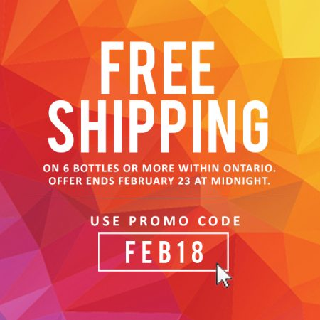 3 Days Only. Free Shipping on 6 Bottles or more with Promocode : FEB18