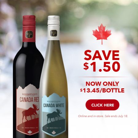 Save $1.50 on our Canada Red and White