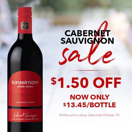Sale Alert. Save $1.50 on Cabernet Sauvignon
