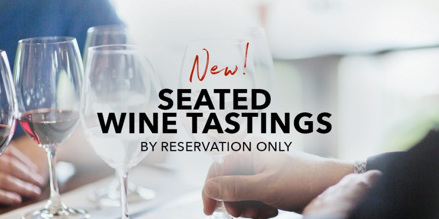Now Available! Seated Wine Tastings.